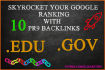 skyrocket your Google Ranking with PR9 Backlinks