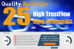 create 25 Comment Backlinks high Trustflow and High DA