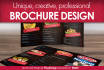 design creative brochure of any kind