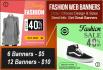create Cheap Fashion banners