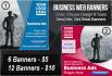 create Cheap Business banners