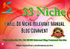 provide 33 Niche Relevant Blog Comment Quality Work