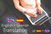translate English to Spanish 500 words