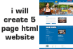 create a professional website design for you
