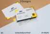 design Your Business 3 EXEMPLARY Business Cards in 24 Hrs