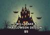 halloween design or card