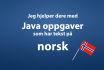 help you with java task in Norwegian