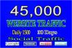 send 45k unlimited,web,traffic,for 30 days