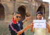 record a video at an indian historical monument
