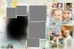 create a digital scrapbook photo template