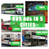 do Bus Ads in 5 cities