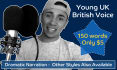 record a dramatic young sounding british voiceover in 48hrs
