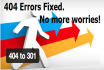 do 404 to 301 redirect for your Wordpress Website