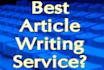write Complete WEBSITE Unique Content
