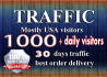 drive  quality usa targeted website,traffic,visitors