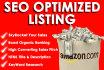 write an AMAZING Seo Optimized Amazon Listing