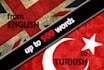 translate English to Turkish or vise versa