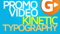 make kinetic  typography video with voice over