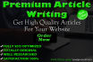 do 1000 Words SEO Article Writing