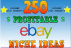 research eBay hot selling and highly selling niche with keywords