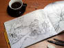 sketch hand drawn illustrations