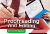 do proofread and edit  up to 10000 words