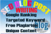 research and write SEO blog post for your website or blog