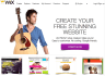 create and customise a website on Wix or Weebly