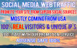 drive UNLIMITED Social targeted Visitors to your website for 30 Days