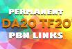 da20 TF20 Permanent PBN Links