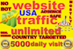 drive super targeted website,traffic,5000 daily visitors