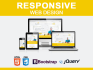 create awesome  responsive web sites