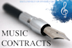 provide music industry contracts for 5 dollars within 24 hrs
