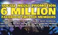 promote your website, product,service via 6Million social people