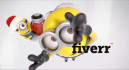 create funny logo message in minions Christmas holiday intro