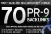 create 70,backlinks for seo