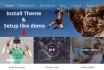 install any WordPress theme and setup like demo