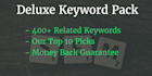 give you over 400 keywords and tell you which to target