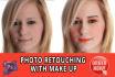 professionally photo retouching with make up