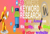 do indepth SEO keyword research for your ecommerce website or product