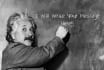 place your message on the Blackboard written by Einstein