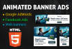 create interactive  HTML 5 banner animation