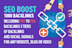 create 3 tier backlinks including PR9,PR6 and Social Signals