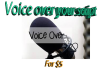 voice over your script in female or male voice