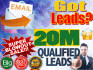 give you 20M Email Lists Super Blowout