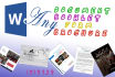 create, edit or change format of MS Word document