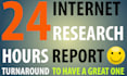 create an internet research report