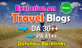 do guest post in 30 DA Hq Travel blog