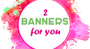 2 a banner at a bargain price