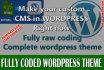 make Custom WordPress Theme or Website